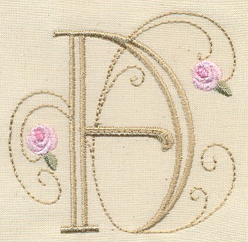 Bullion Rose Quilt Monograms -3
