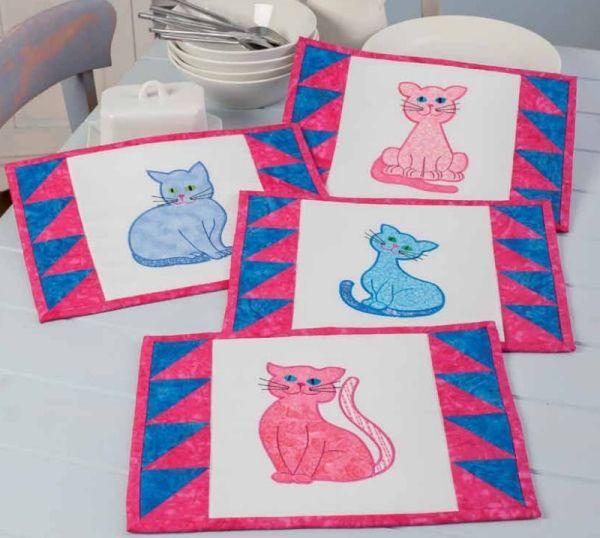 Contented Cats Applique Set 1 Large -3