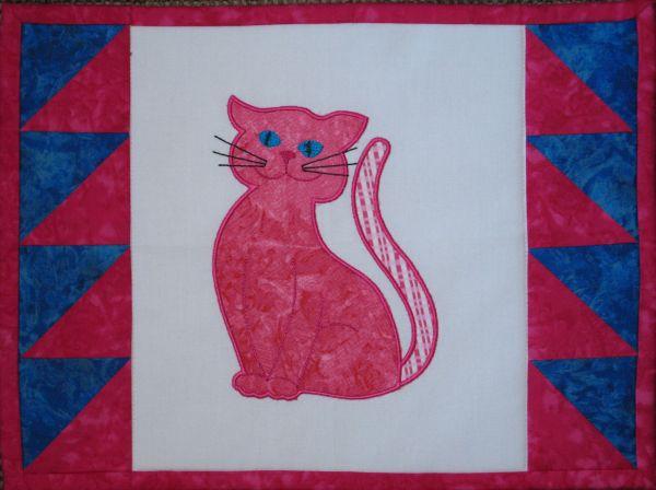 Contented Cats Applique Set 1 Large -4