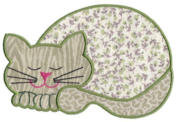 Contented Cats Applique Set 1 Large -15