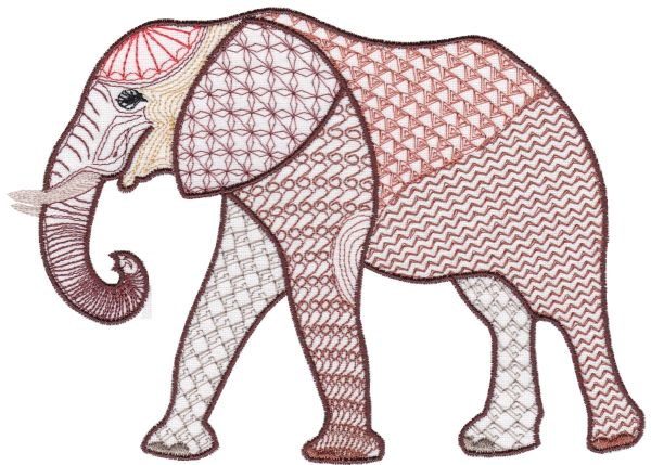 Fanciful Elephants Set 1 Large -6