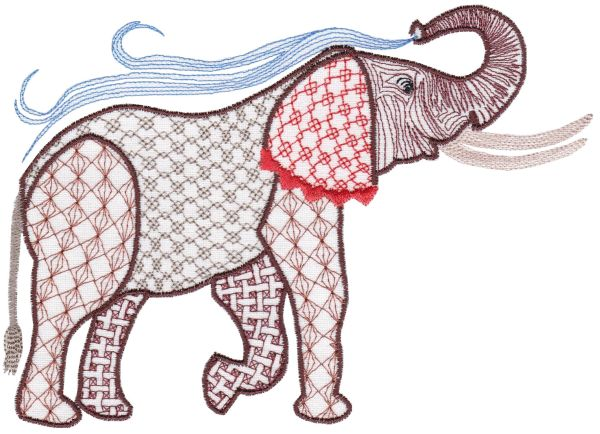 Fanciful Elephants Set 1 Large -7