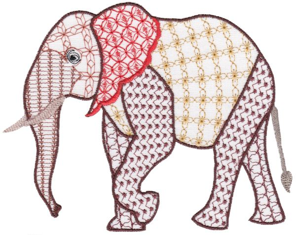 Fanciful Elephants Set 1 Large -8