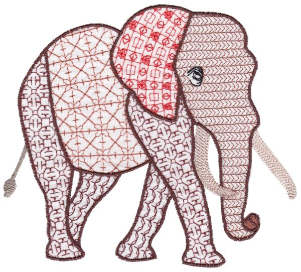 Fanciful Elephants Set 1 Large -9