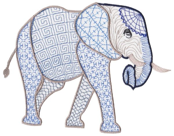 Fanciful Elephants Set 1 Large -10