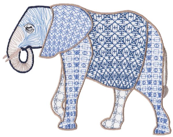 Fanciful Elephants Set 1 Large -11