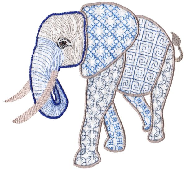 Fanciful Elephants Set 1 Large -12