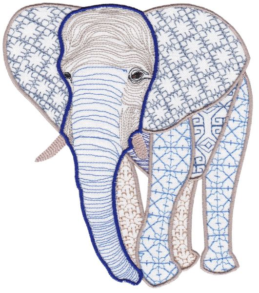 Fanciful Elephants Set 1 Large -13