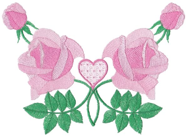 Romantic Lite Roses Large Set 1