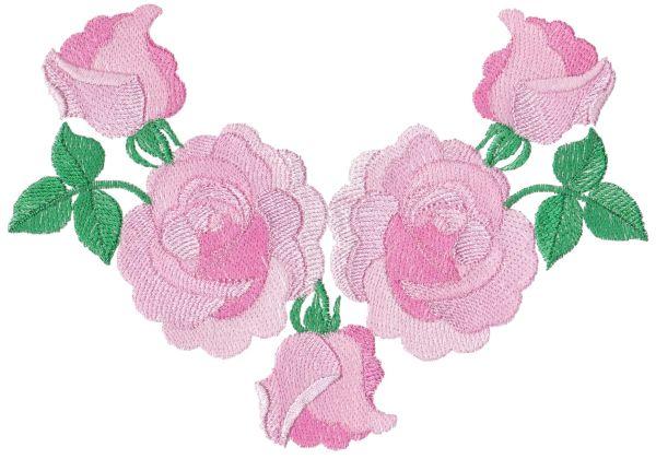Romantic Lite Roses Large Set 1 -5