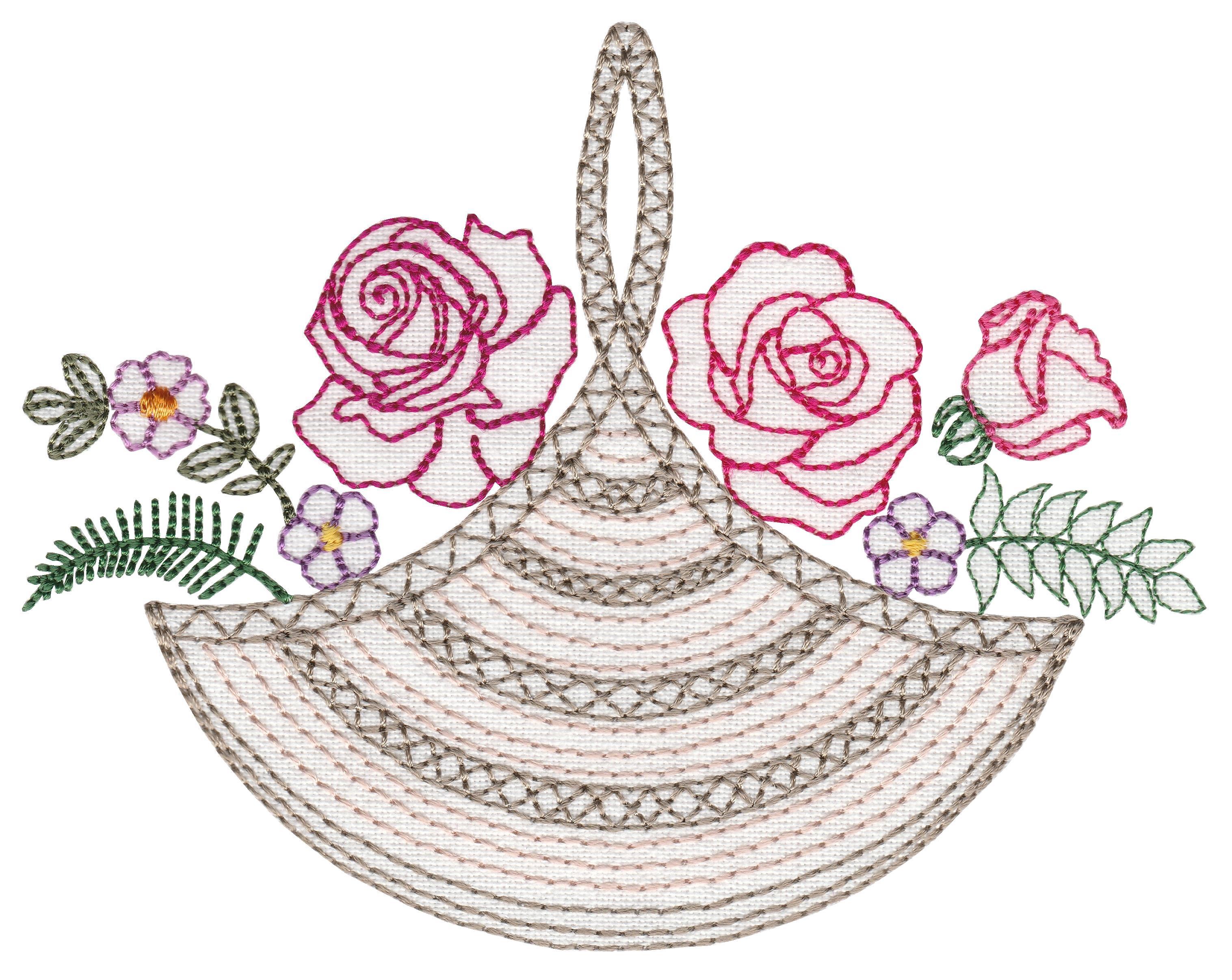 Colorwork Rose Baskets Medium