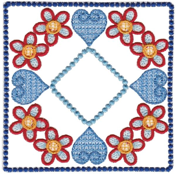 Crewel Baltimore Quilt Blocks Set 1 Small