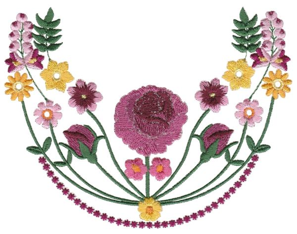 Vintage Rosy Rounded Borders Medium-5