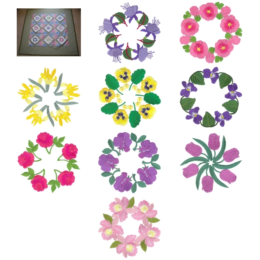 Aljay Wreaths with Mini Quilt