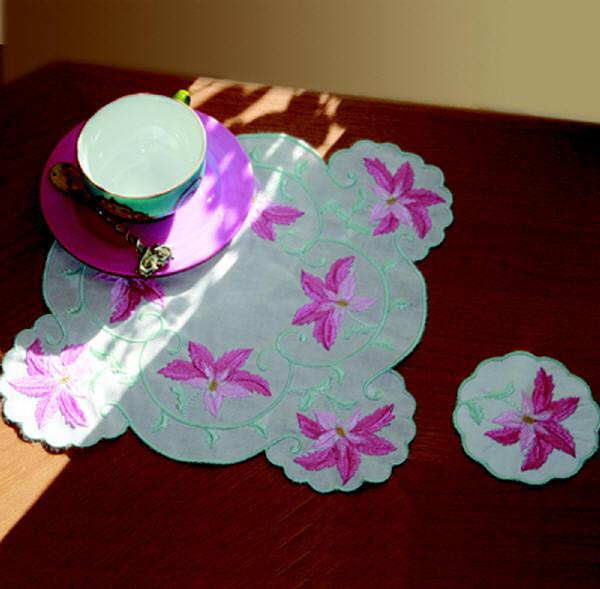 Tea Cloth Christina and Coasters-3