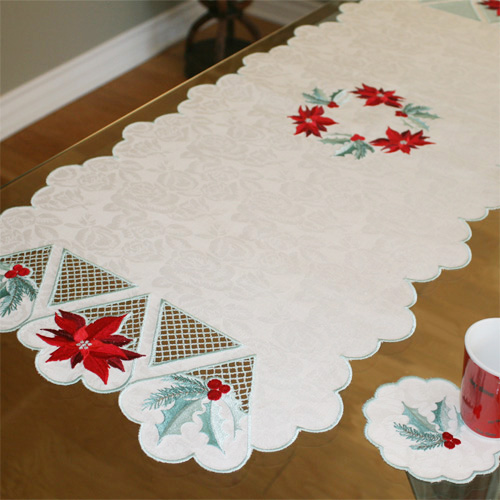 Table Runner December with Coaster-3