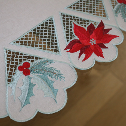 Table Runner December with Coaster-4