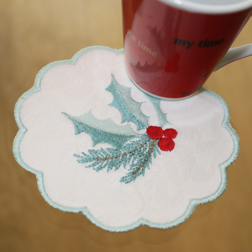 Table Runner December with Coaster-5