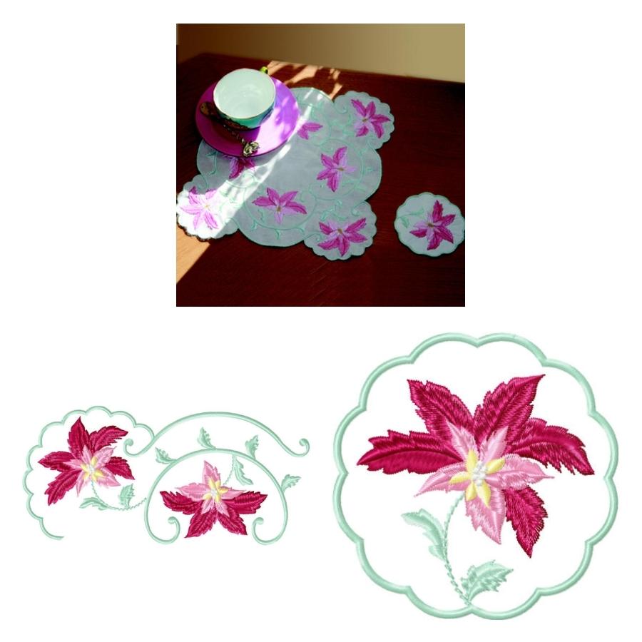 Tea Cloth Christina and Coasters