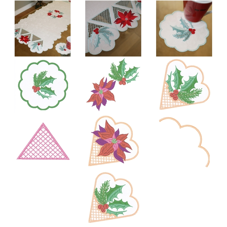 Table Runner December with Coaster