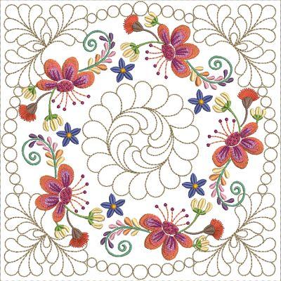 Mexican Folk Art Quilt Blocks 2-7