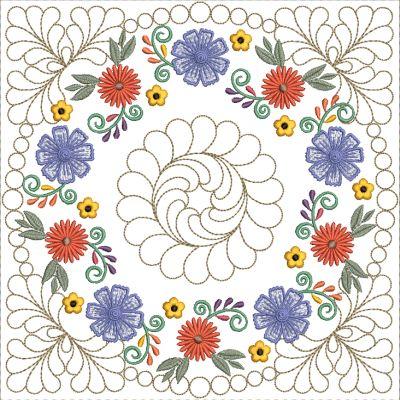 Mexican Folk Art Quilt Blocks 2-9