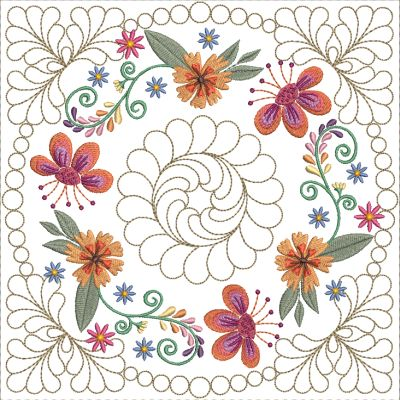 Mexican Folk Art Quilt Blocks 2-11