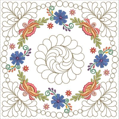 Mexican Folk Art Quilt Blocks 2-13