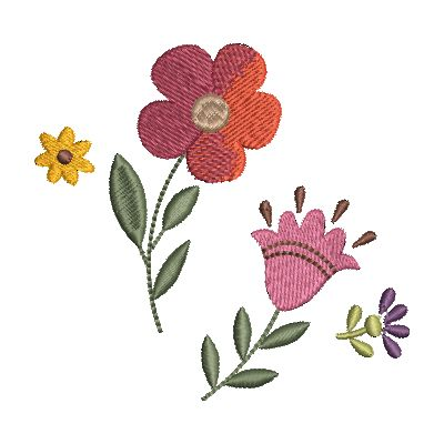 Folk Art Flowers Small-24
