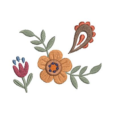 Folk Art Flowers Small-30