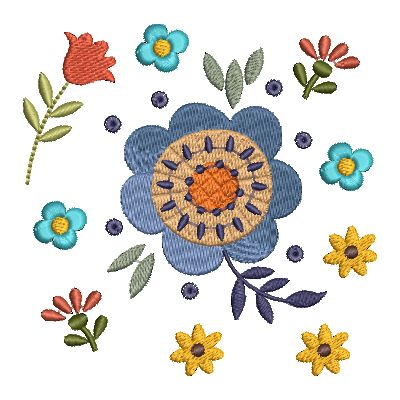 Folk Art Flowers Small-32