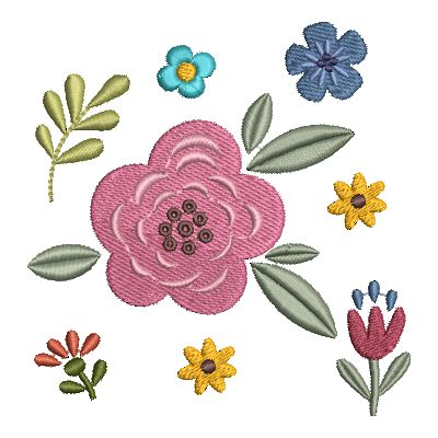 Folk Art Flowers Small-33