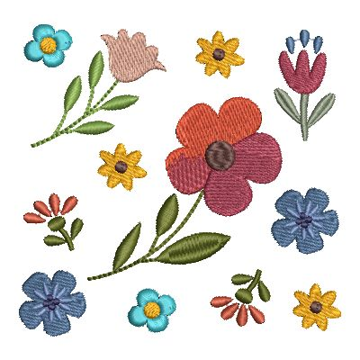 Folk Art Flowers Small-34