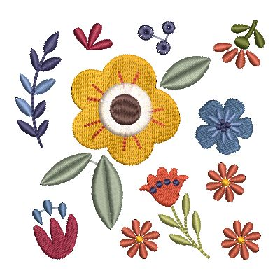 Folk Art Flowers Small-35