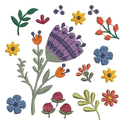 Folk Art Flowers Small-36