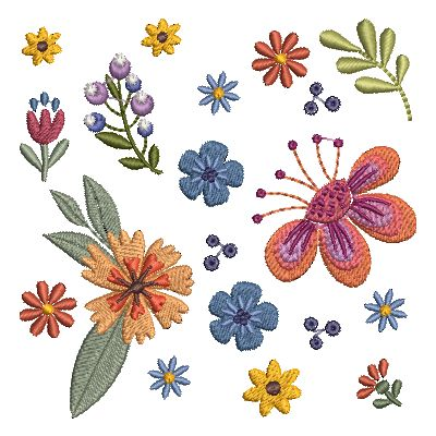 Folk Art Flowers Small-37
