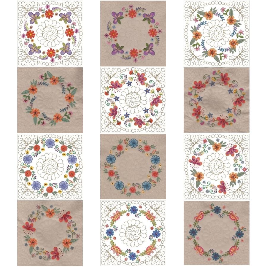 Mexican Folk Art Quilt Blocks 2
