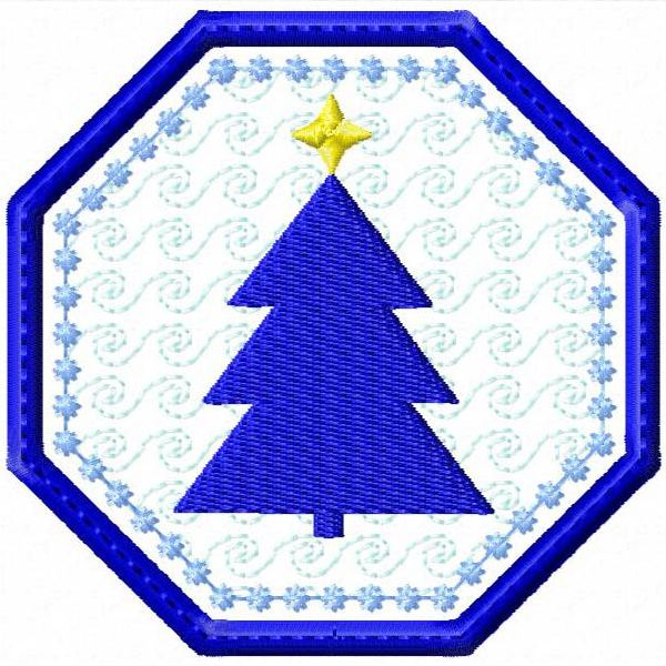 Christmas Coaster Silhouettes -8