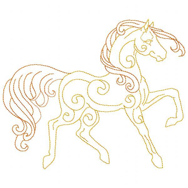 Golden Horses Set - 8x8-4