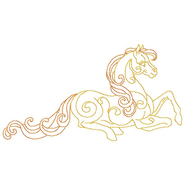 Golden Horses Set - 8x8-5