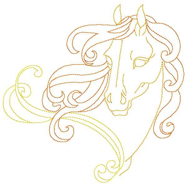 Golden Horses Set - 8x8-6