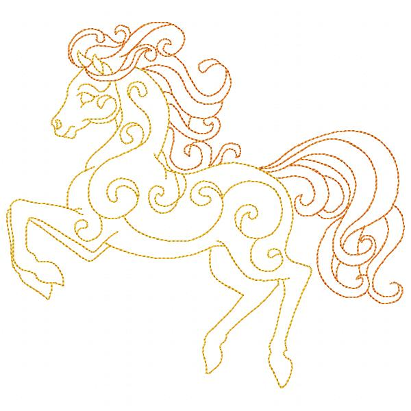 Golden Horses Set - 8x8-7