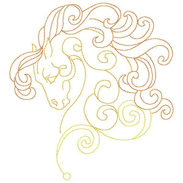 Golden Horses Set - 8x8-8