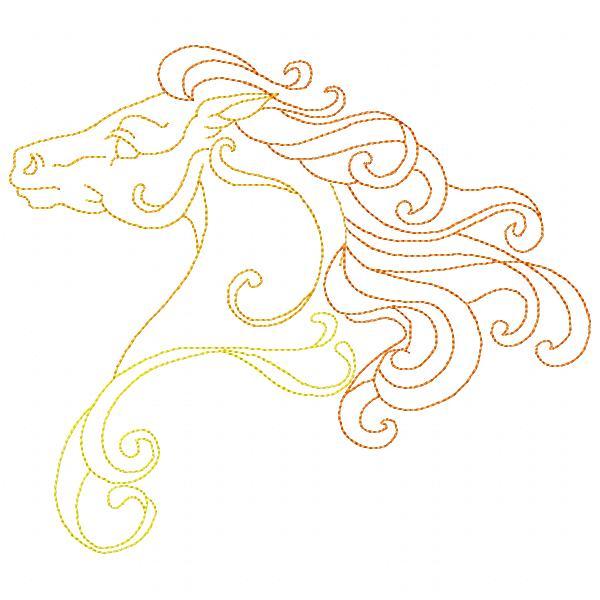 Golden Horses Set - 8x8-9