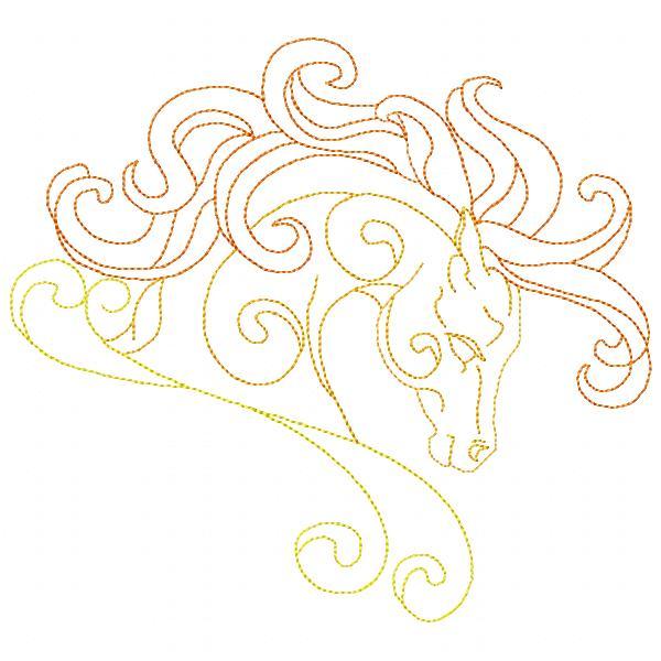 Golden Horses Set - 8x8-10