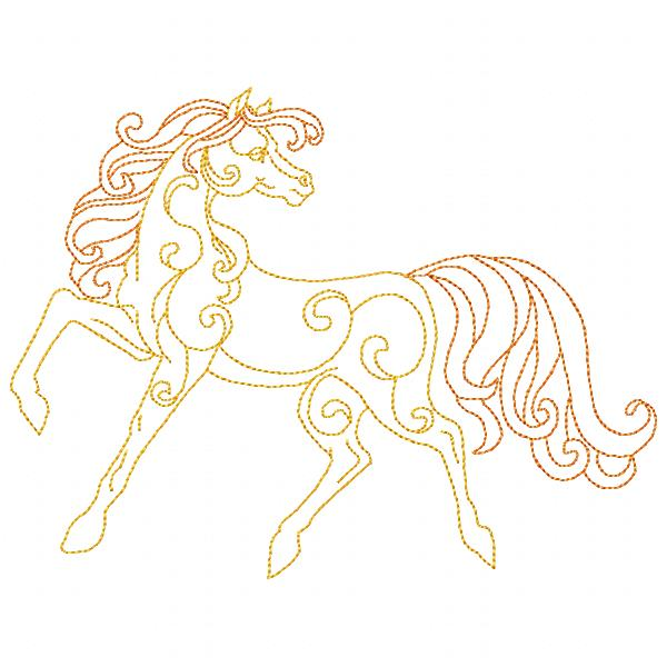 Golden Horses Set - 8x8-11