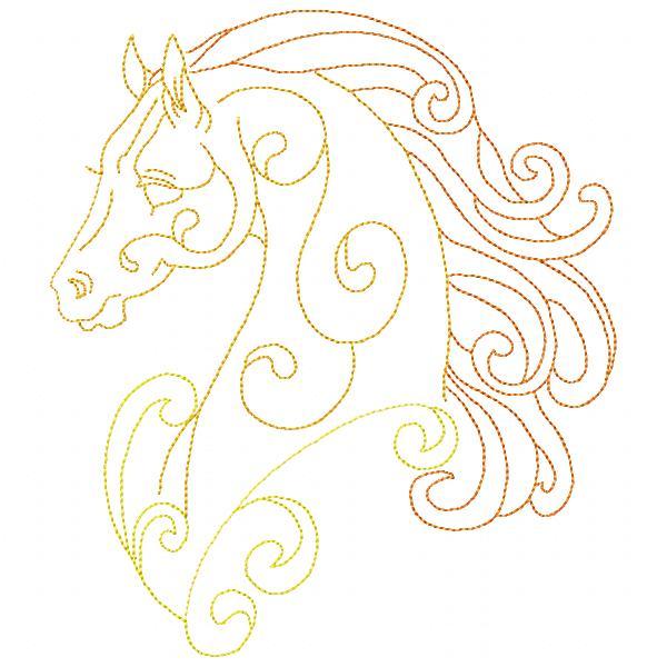Golden Horses Set - 8x8-12