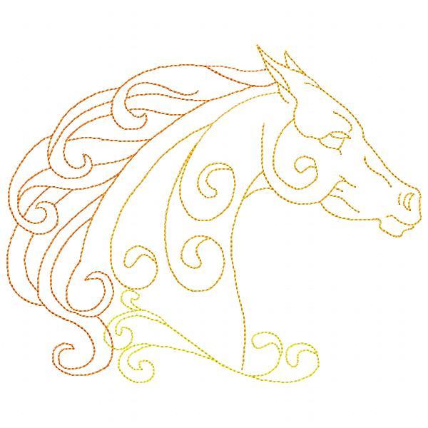 Golden Horses Set - 8x8-13