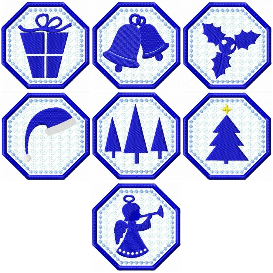 Christmas Coaster Silhouettes