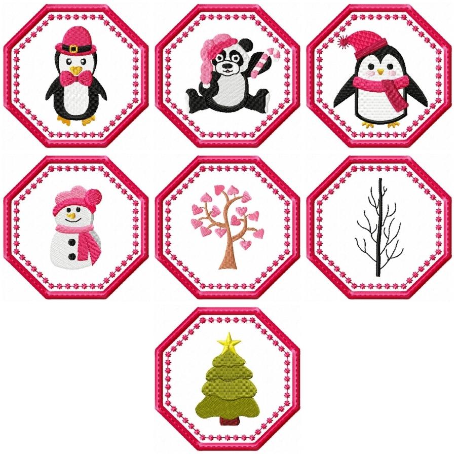 Colourful Winter Coasters